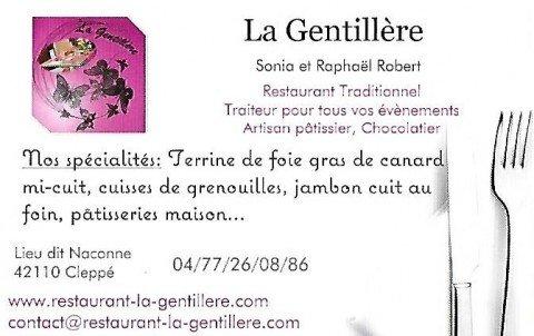 Restaurant La Gentillère - Cleppé